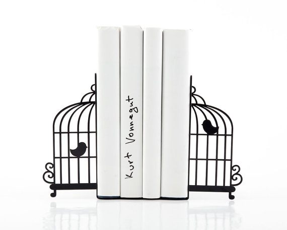 Bird Cage Bookends - Sold on Etsy