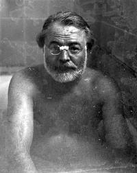 Just because I find it hilarious that an author had his picture taken in the tub!
