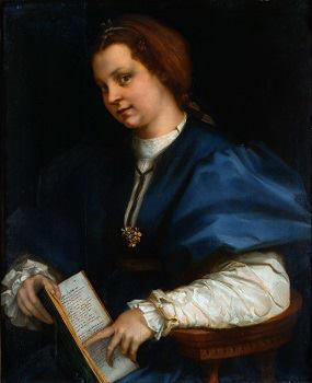"""Lady with a Book of Petrarch's Rhyme"" -- by Andrea del Sarto, born on this day in 1486"