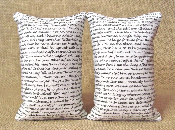 Pride and Prejudice Bookends - Sold on Etsy
