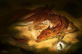 """Never laugh at a live dragon."" - Bilbo Baggins, The Hobbit"