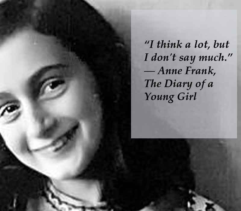 """anne frank challenges From her hiding place in amsterdam, anne frank wrote, """"how wonderful it is that nobody need wait a single moment before starting to improve the world"""" today, for malala and the many girls ."""