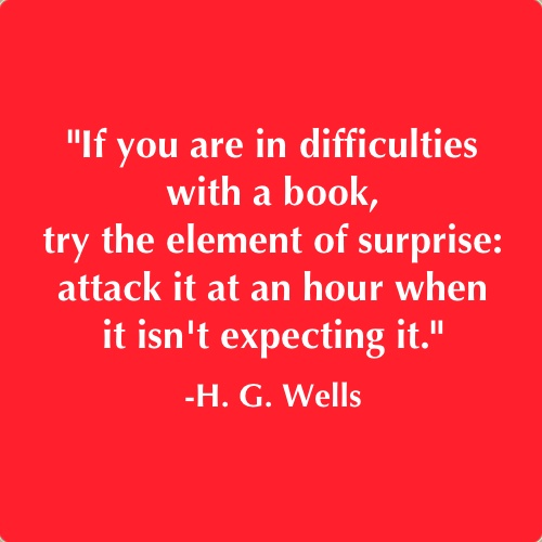 I find this humorous, since War of the Worlds was a book that I had difficulty with.