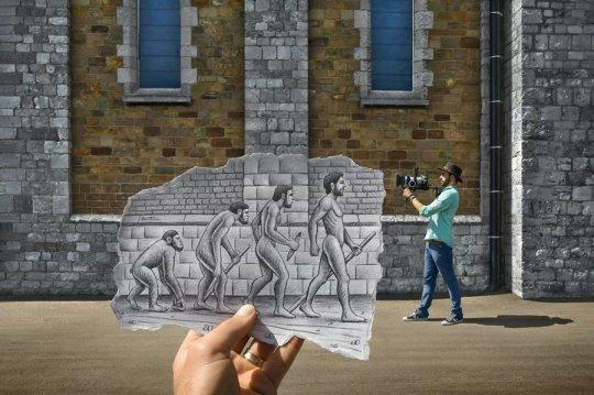 human-evolution-by-ben-heine