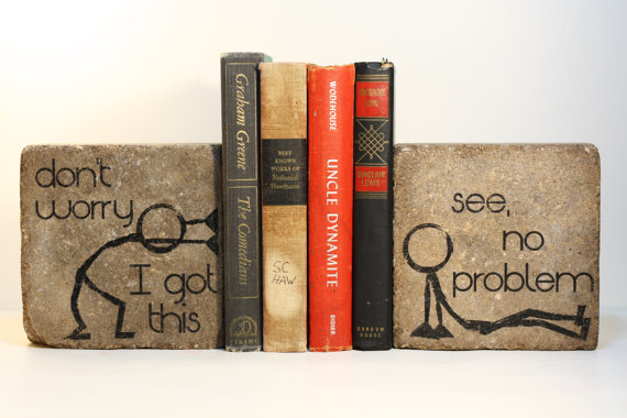 quirkybookends