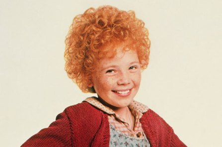 "Little Orphan Annie.  I was completely obsessed with this movie as a child.  Even to this day I sing ""The Sun Will Come Out"" whenever my day is going badly."