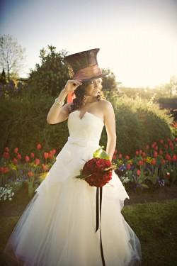 Alice in Wonderland inspired wedding.