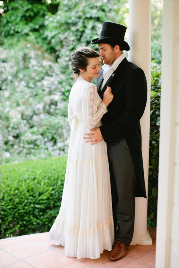 A wedding inspired by Jane Austen.