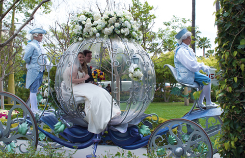 Of course every girl dreams of being a princess.  Fairy Tale Themed wedding.
