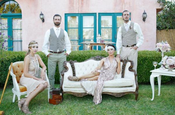 I adore this idea.  Great Gatsby wedding.