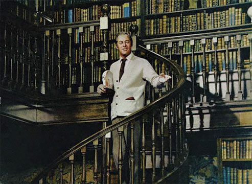 My Fair Lady had a very very impressive personal library.  I have always wanted to slide down the banister.