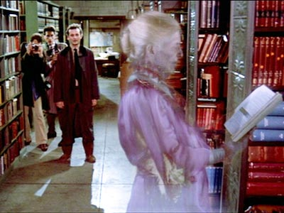 I honestly would peek around corners at libraries for years after watching this movie!  Ghostbusters gets the award for creepiest library scene.