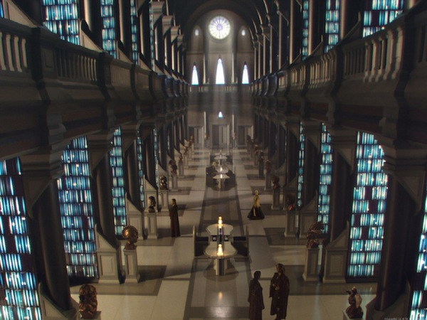 The Jedi Archives in Star Wars Episode II: The Attack of the Clones