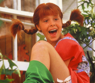 While I still hold to the belief that Pippi Longstocking is just a knock off of Anne Shirley, I do love her!