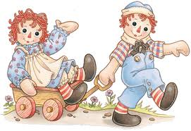 In Kindergarten I was Raggedy Ann for Halloween.  My aunt had bought me a HUGE doll and I was able to wear her clothes as my costume.  From that point on, I've loved Raggedy Ann!