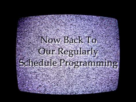 Image result for back to regular scheduled programming