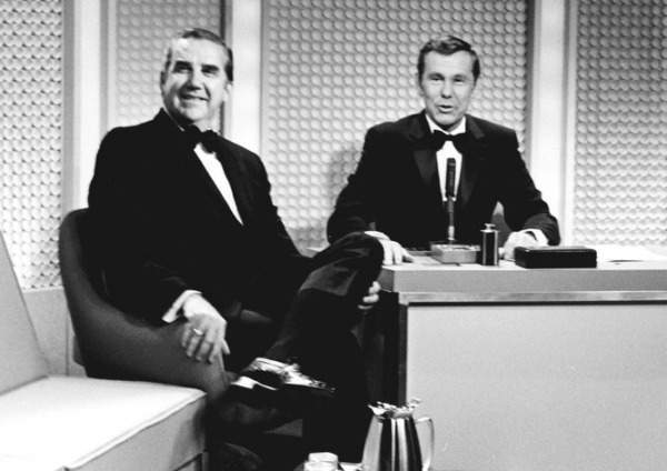 Undated photo of Johnny Carson with Ed McMahon